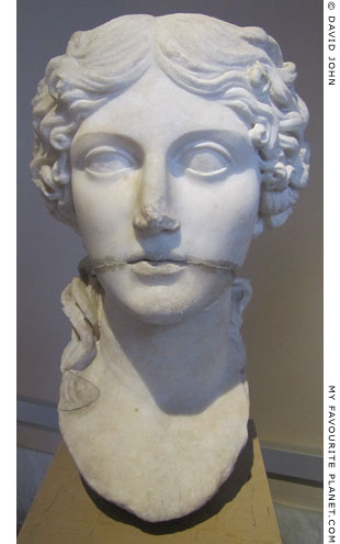 Marble head of Agrippina the Elder from Pergamon at My Favourite Planet