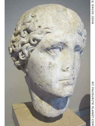 Marble head of Agrippina the Elder from Ortahisa-Trapezus (Trabzon) at My Favourite Planet