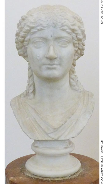 Marble portrait bust of a Julio-Claudian princess, the so-called Agrippina at My Favourite Planet