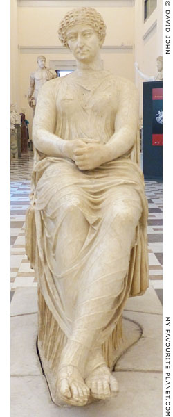 The so-called seated Agrippina statue, National Archaeological Museum, Naples at My Favourite Planet