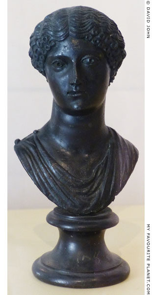Bronze bust of Agrippina the Elder at My Favourite Planet