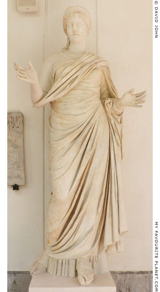Marble statue of Agrippina the Elder from Tyndaris at My Favourite Planet