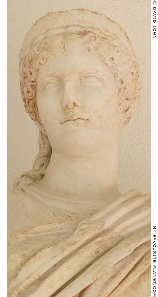 Detail of the statue of Agrippina the Elder from Tyndaris at My Favourite Planet