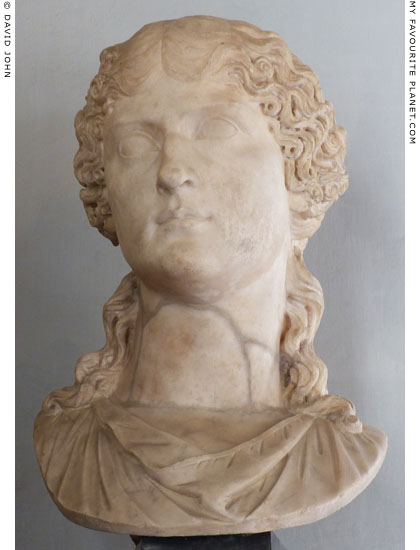 Marble bust of Agrippina the Elder, Capitoline Museums, Rome at My Favourite Planet