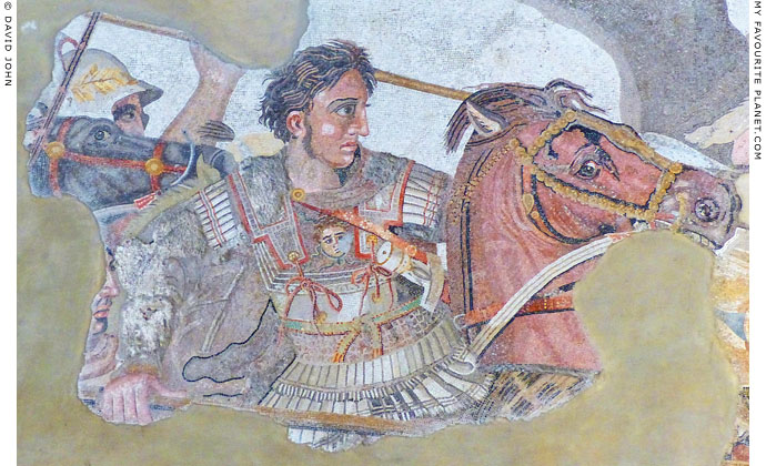 Detail of the Alexander Mosaic from Pompeii at My Favourite Planet