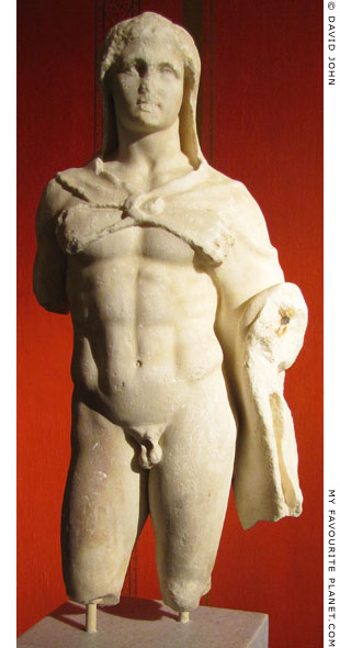 Statuette of the Greek hero Herakles wearing a lion skin at My Favourite Planet
