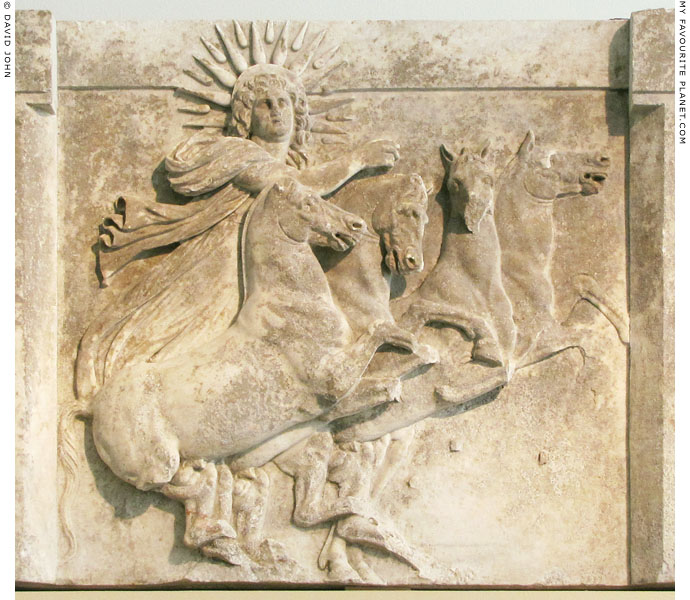 Marble relief from Troy of Helios driving a quadriga at My Favourite Planet