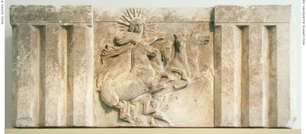 Marble metope from Troy with a relief of Helios in a quadriga at My Favourite Planet