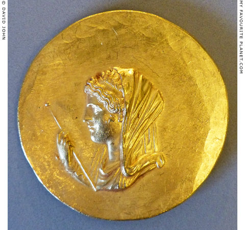 Olympias, mother of Alexander the Great on an Abukir medallion at My Favourite Planet