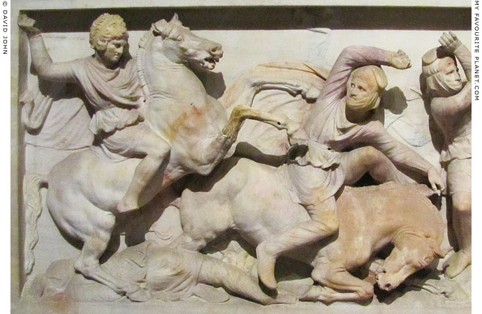 Relief of Alexander the Great on the Alexander Sarcophagus at My Favourite Planet