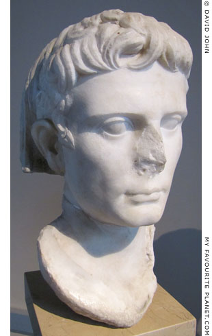 Head of the statue of Emperor Augustus from Kyme at My Favourite Planet