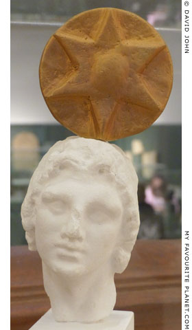 Reconstruction of the head of Alexander the Great with a divine emblem at My Favourite Planet