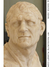 Marble bust of Lysimachus at My Favourite Planet
