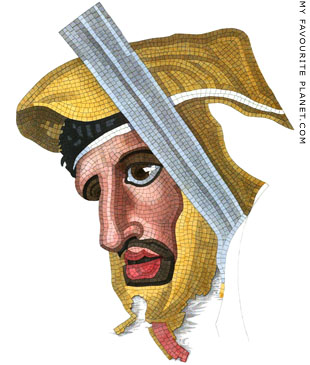 Drawing of a Persian soldier from the Naples Alexander mosaic at My Favourite Planet