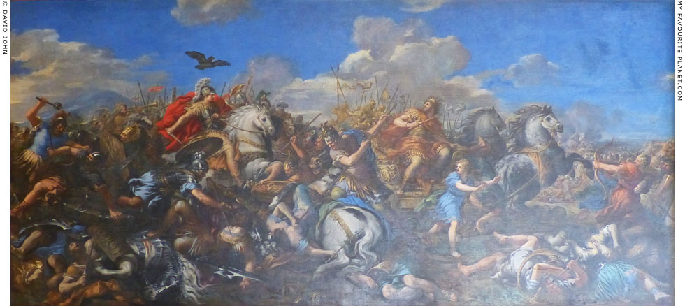 Battle of Alexander the Great and Darius by Pietro da Cortona at My Favourite Planet