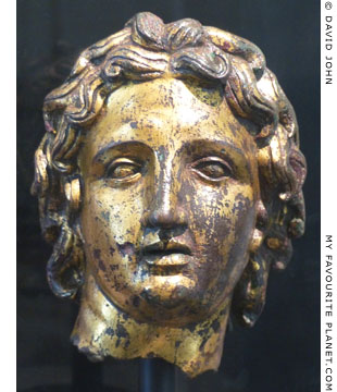 Gilded bronze head of Alexander the Great at My Favourite Planet