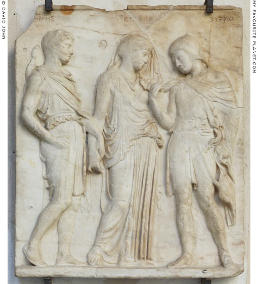 The Orpheus Relief, showing Hermes, Eurydice and Orpheus in the Underworld at My Favourite Planet