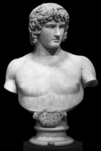Colossal marble bust of Antinous, Vatican Museums, Rome at My Favourite Planet