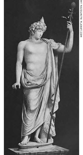 Statue of Antinous as Dionysus-Osiris in the Vatican at My Favourite Planet