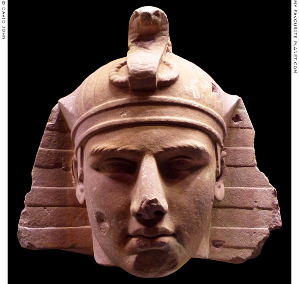 Sandstone head of Antinous as the Egyptian god Osiris at My Favourite Planet