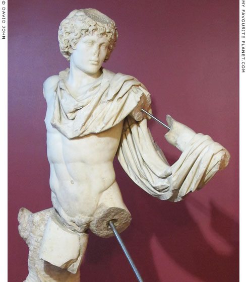 A marble statue of Antinous as Androkles at My Favourite Planet