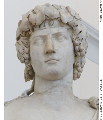 Detail of the Antinous-Bacchus statue in Naples at My Favourite Planet