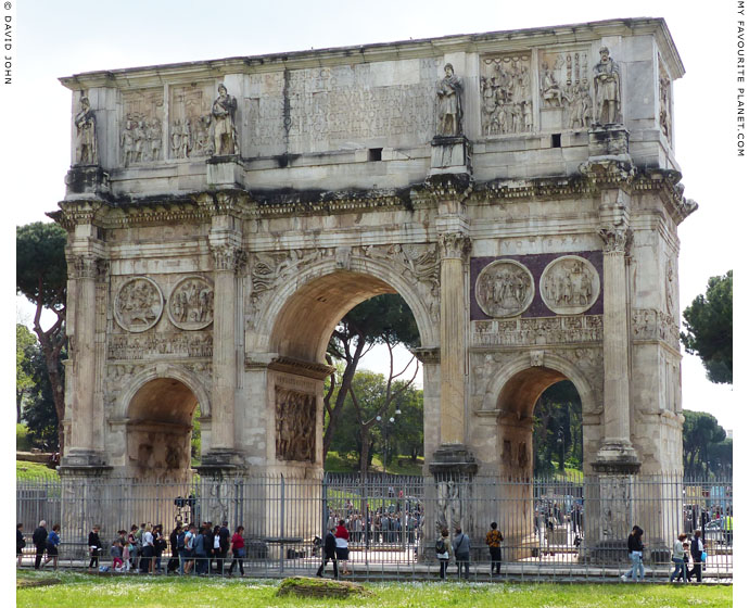 The north side of the Arch of Constantine, Rome at My Favourite Planet