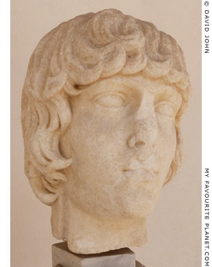 Head of a young man, perhaps Antinous at My Favourite Planet