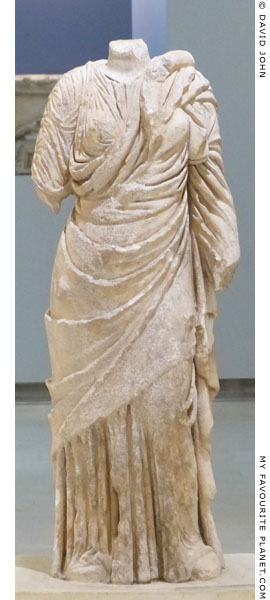 A marble statue of Hygieia from Amphipolis at My Favourite Planet