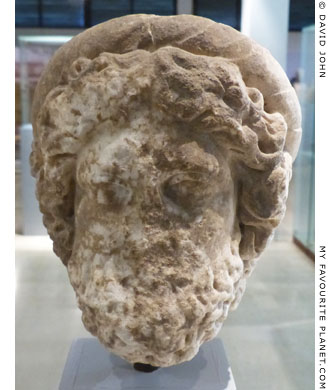 Marble head of a statue of Asklepios from Amphipolis at My Favourite Planet