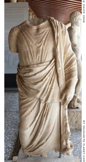Fragment of a marble statue of Asklepios from the Athens Agora at My Favourite Planet