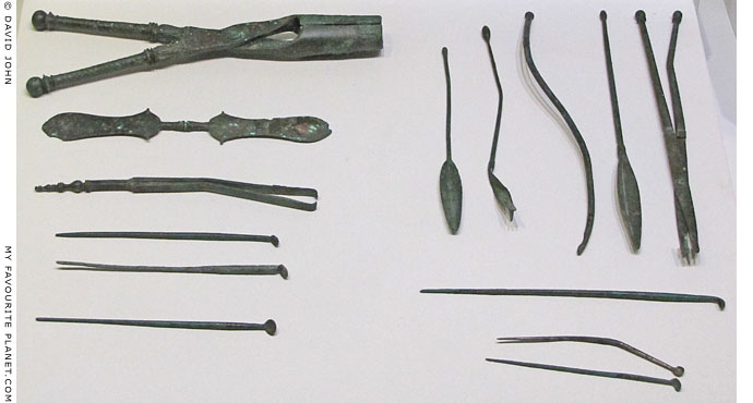 Ancient medical instuments found at the Asclepieion in Allianoi, near Pergamon, Turkey at My Favourite Planet