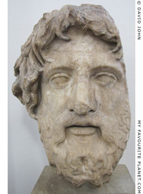 Head of a statue of Asklepios from Rome at My Favourite Planet