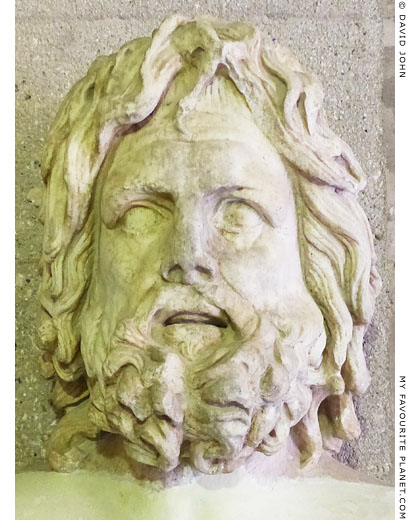 Marble head of Zeus, Otricoli type, from Corinth at My Favourite Planet