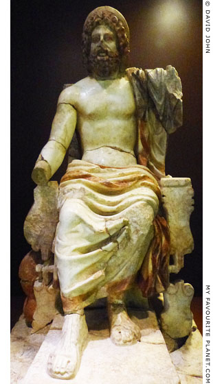 A marble statuette of enthroned Asklepios from Corinth at My Favourite Planet