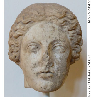 Marble head of a female member of the family of Asklepios at My Favourite Planet