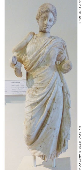 Marble statue of Hygieia from Dion, Macedonia at My Favourite Planet