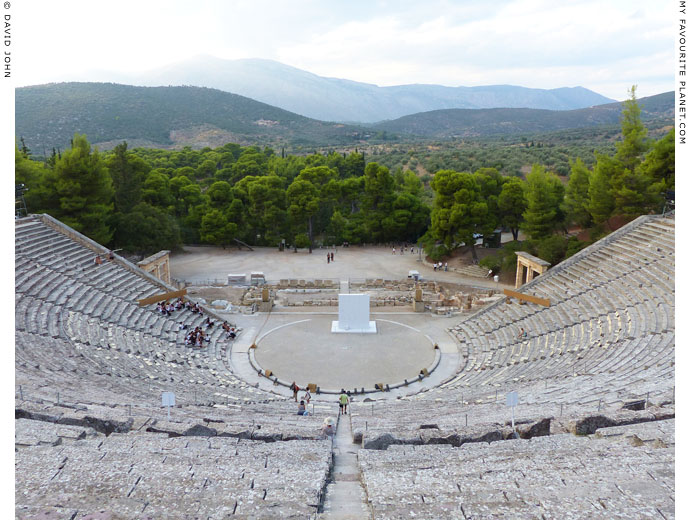 The Sanctuary of Asklepios at Epidauros from the theatre at My Favourite Planet