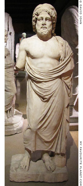 Marble statue of Asklepios, Istanbul Archaeological Museum at My Favourite Planet