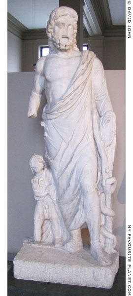 Statue of Asklepios and Telesphoros from Miletus at My Favourite Planet
