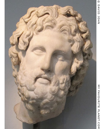 Marble head of Asklepios from Melos at My Favourite Planet