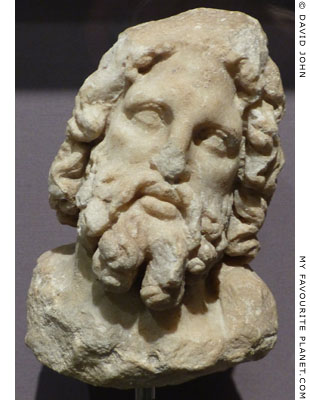 Marble head of Asklepios from Kos at My Favourite Planet