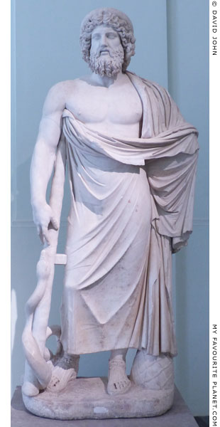 A Giustini type statue of Asclepios in the Naples Archaeological Museum at My Favourite Planet