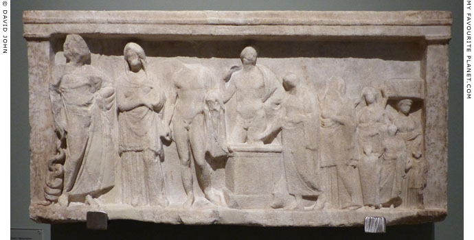 Votive relief dedicated to Asklepios in Patras at My Favourite Planet