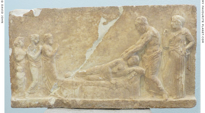 Votive relief from the Asklepieion in Piraeus at My Favourite Planet