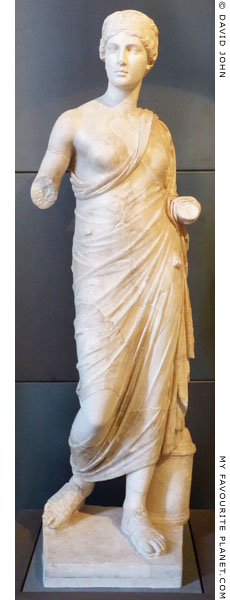 Marble statue of Hygieia, Capitoline Museums, Rome at My Favourite Planet