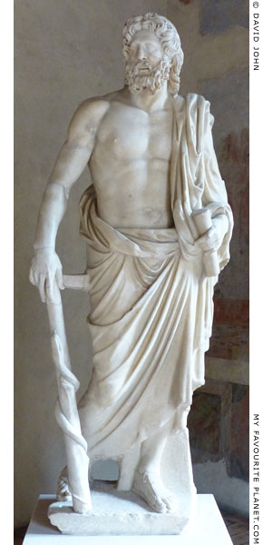 Statue of Asclepius in the Palazzo Altemps, National Museum of Rome at My Favourite Planet