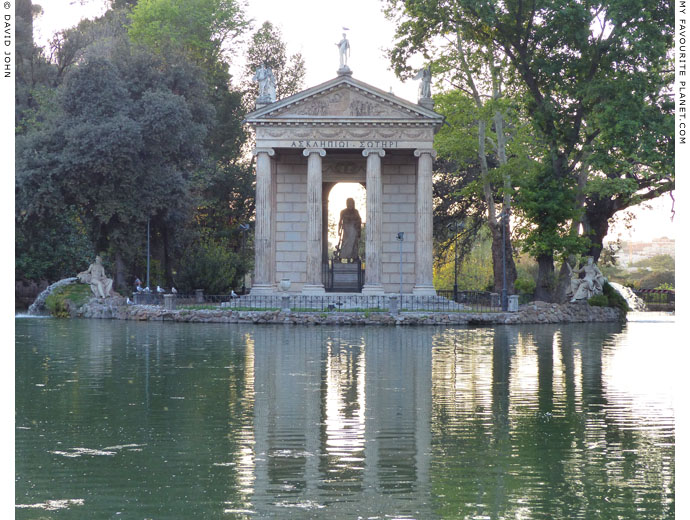 The Temple of Aesculapius, Villa Borghese, Rome at My Favourite Planet