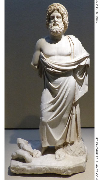 Marble statue of Asklepios of the Giustini-Neugebauer type at My Favourite Planet