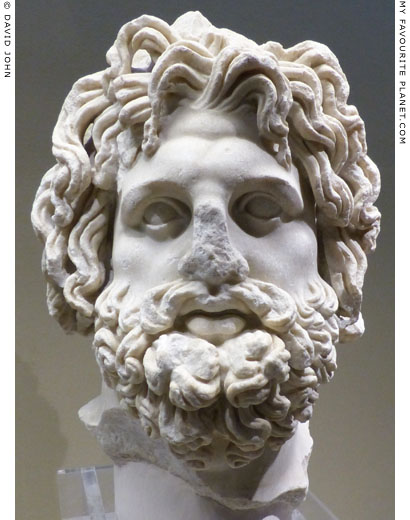 Marble head of Asklepios from Syracuse at My Favourite Planet